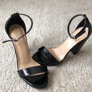 Express Black Patent Leather Heels